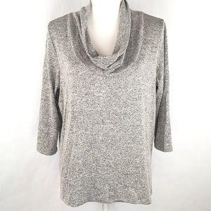 Market & Spruce Stitch Fix Cowl Neck Sweater Gray